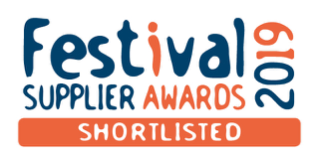 Just book it now.com finalist in Festival Supplier Awards 2019