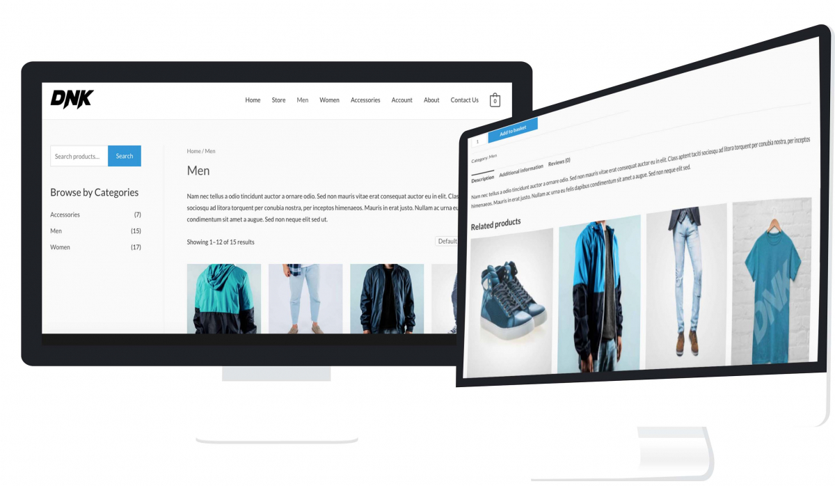 Online shop website from Flame Concepts